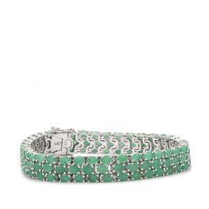 Carnaiba Brazilian Emerald Bracelet in Sterling Silver 18.37cts