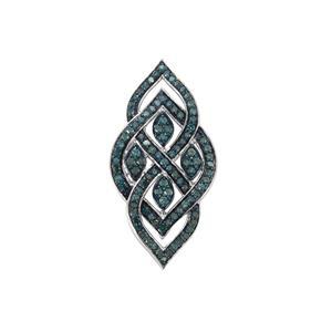 Blue Diamond Pendant  in Sterling Silver 1.10ct