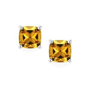 Xia Heliodor Earrings in Sterling Silver 2.58cts