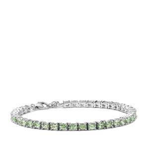 6.85ct Tsavorite Garnet Sterling Silver Bracelet