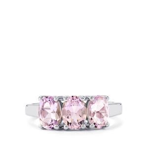 2ct Rose De France Amethyst Sterling Silver Ring
