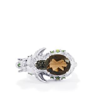 3.67ct Kaleidoscope Gemstones Sterling Silver Ring