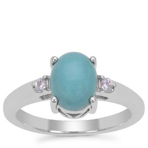 Sleeping Beauty Turquoise Ring with Tanzanite in Sterling Silver 1.72cts