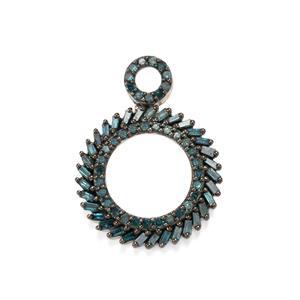 1ct Blue Diamond Sterling Silver Pendant