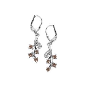 Tsivory Colour Change Garnet Earrings in Sterling Silver 0.80cts