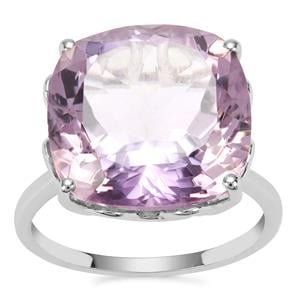 Rose De France Amethyst Ring in Sterling Silver 13.14cts