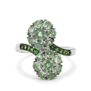 Odisha Kyanite & Tsavorite Garnet Sterling Silver Ring ATGW 2.96cts