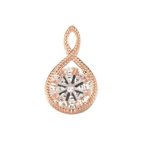 Optic Quartz Pendant in Rose Gold Plated Sterling Silver 5.63cts