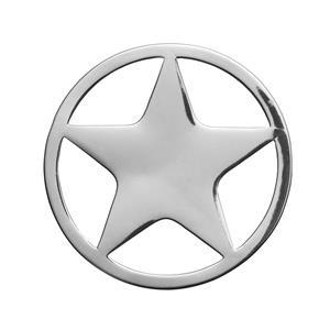 Sterling Silver Star Disc 3.18g