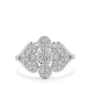 1/2ct Argyle Diamond 9K White Gold Ring
