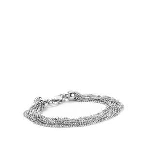 "7"" Sterling Silver Altro Italiano Bracelet 17.00g"