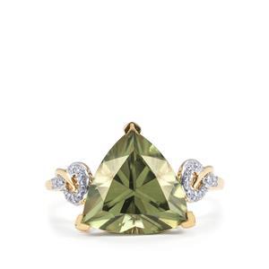 Csarite® & Diamond 18K Gold Lorique Ring MTGW 5.05cts
