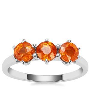 Mandarin Garnet Ring in Sterling Silver 2.28cts