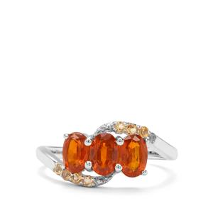 Loliondo Orange Kyanite & Diamantina Citrine Sterling Silver Ring ATGW 2cts