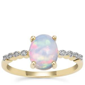 Kelayi Opal Ring with Diamond in 9K Gold 1.04cts