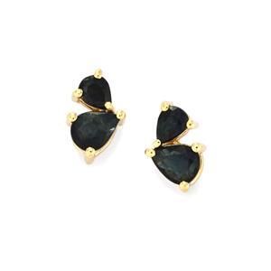 Australian Blue Sapphire Earrings in 10K Gold 1.03ct