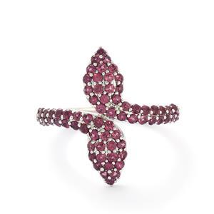 1.59ct Rhodolite Garnet Sterling Silver Ring