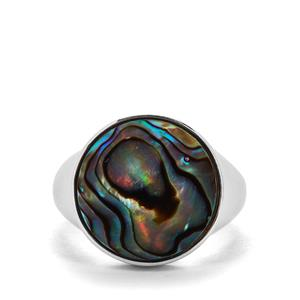 Paua Sterling Silver Ring (15mm)