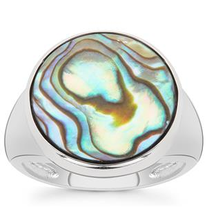 Paua Ring in Sterling Silver (15mm)