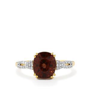 Colour Change Garnet & Diamond 18K Gold Tomas Rae Ring MTGW 3.95cts
