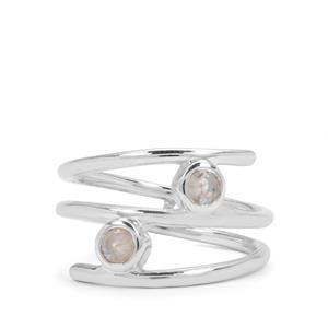 0.36ct Rainbow Moonstone Sterling Silver Ring