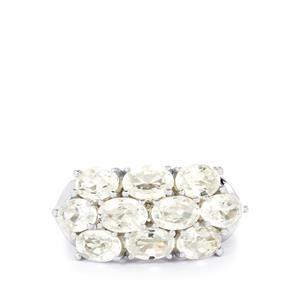 7.63ct Singida Tanzanian Zircon Sterling Silver Ring