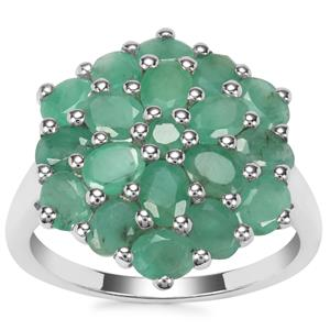 Carnaiba Brazilian Emerald Ring in Sterling Silver 3.03cts