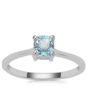Ratanakiri Blue Zircon Ring in Sterling Silver 0.95cts