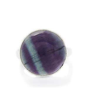 20.00ct Argentine Rainbow Fluorite Sterling Silver Aryonna Ring