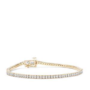 Diamond Bracelet in 9K Gold 2ct
