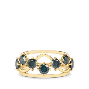 1.40ct Blue Diamond 9K Gold Tomas Rae Ring