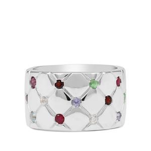 Kaleidoscope Gemstones Ring in Sterling Silver 0.85ct