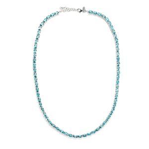 47.52ct Ratanakiri Blue Zircon Sterling Silver Necklace