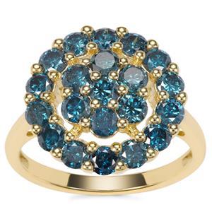 Blue Diamond Ring in 9K Gold 1.95ct