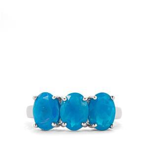 2.40ct Ethiopian Paraiba Blue Opal Sterling Silver Ring