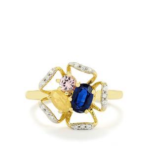 1.09ct Harlequin 10K Gold Ring