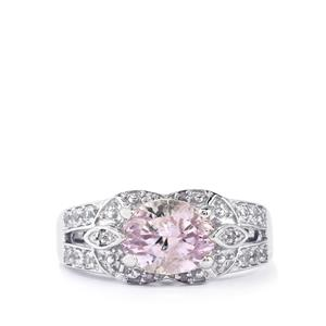 Mawi Kunzite Ring with White Topaz in Sterling Silver 3.03cts