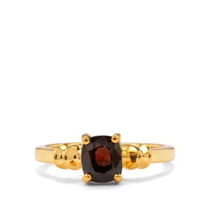 Burmese Multi-Colour Spinel Ring in Gold Plated Sterling Silver 1.23cts