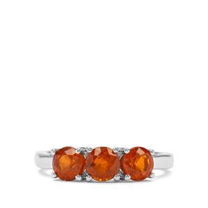1.96ct Orange Kyanite Sterling Silver Ring