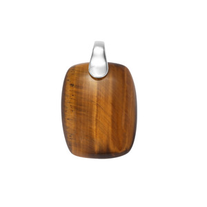 40ct Tiger's Eye Sterling Silver Aryonna Pendant