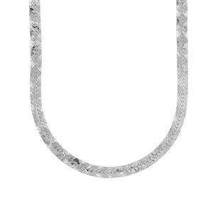 """18"""" Sterling Silver Dettaglio Herringbone Chain 4.17g"""