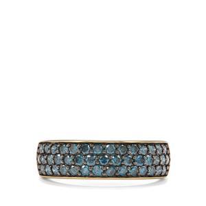 1ct Blue Diamond 10K Gold Ring