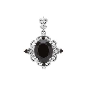 Black Spinel Pendant in Sterling Silver 5.15cts