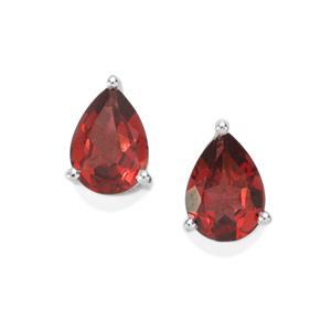 1.53ct Octavian Garnet Sterling Silver Earrings