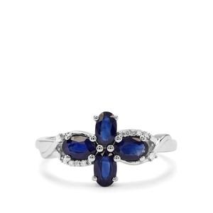 Sant Sapphire & Diamond 9K White Gold Ring ATGW 1.21cts