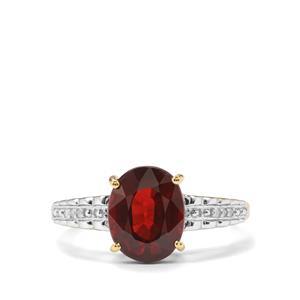 Nampula Garnet & Diamond 10K Gold Ring ATGW 3.03cts
