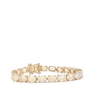 Ethiopian Opal Bracelet in 10K Gold 12.38cts