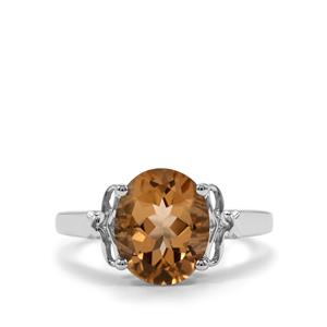 2.97ct Bolivian Natural Champagne Quartz Sterling Silver Ring