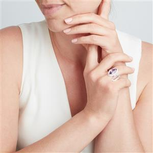 Bahia Amethyst Ring in Sterling Silver 5cts