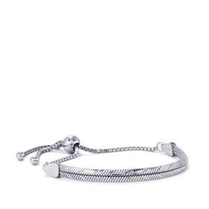 """9"""" Sliding D/Cut Snake Bracelet in Sterling Silver 7.01g"""